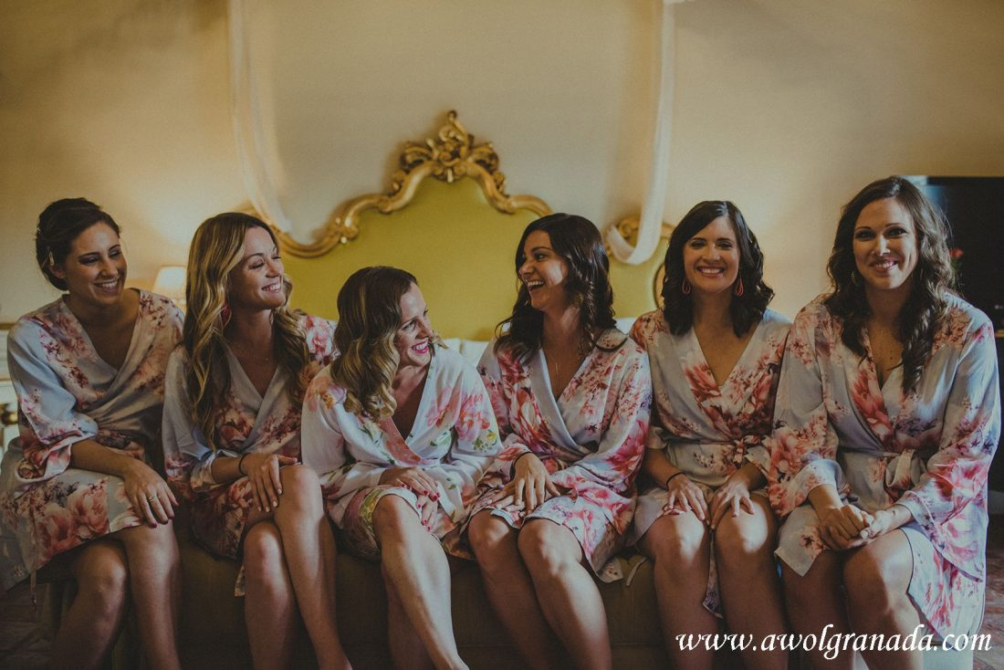 AWOL Granada Wedding Planner Spain Bridal Party getting ready