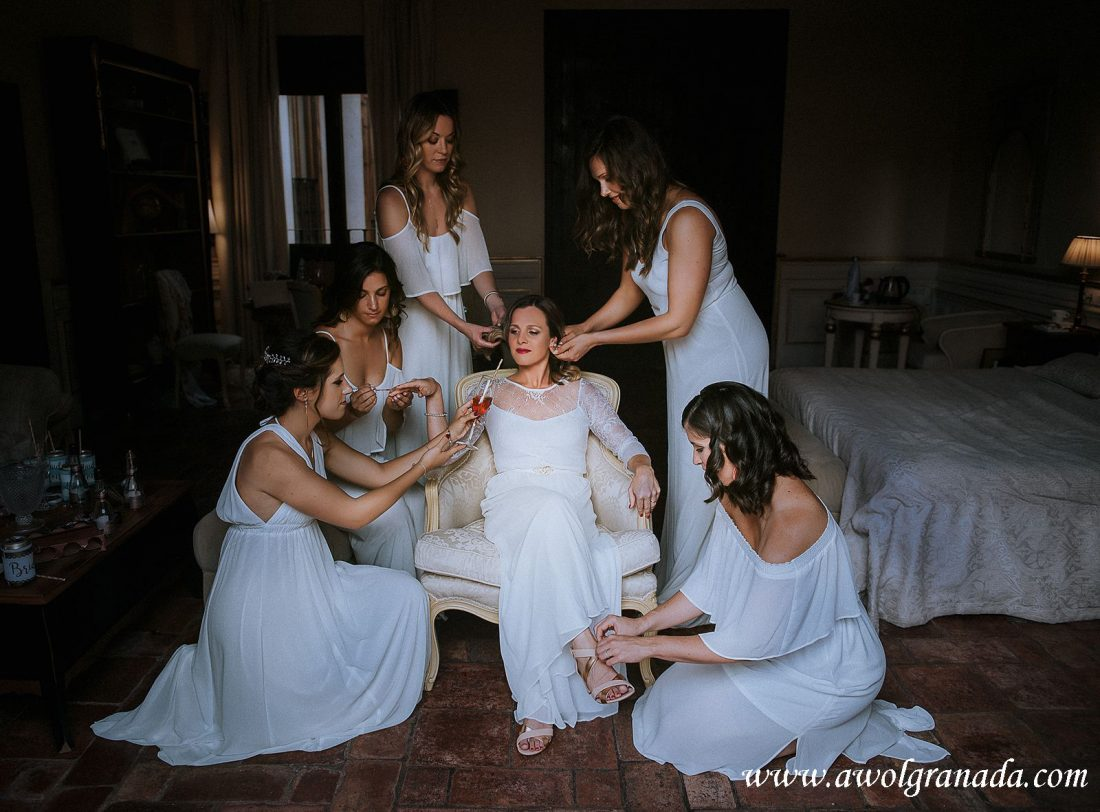 AWOL Granada Wedding Planner Spain Bride & Bridesmaids