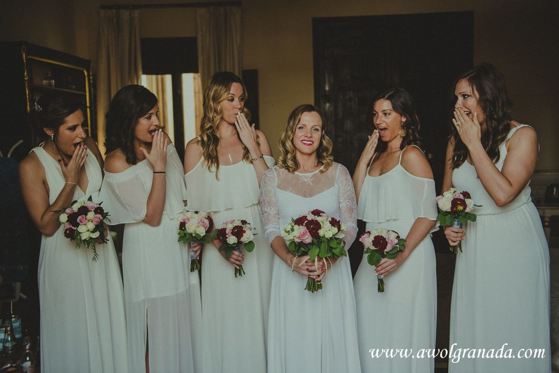 AWOL Granada Wedding Planner Spain Bride, Bridesmaids and Flowers