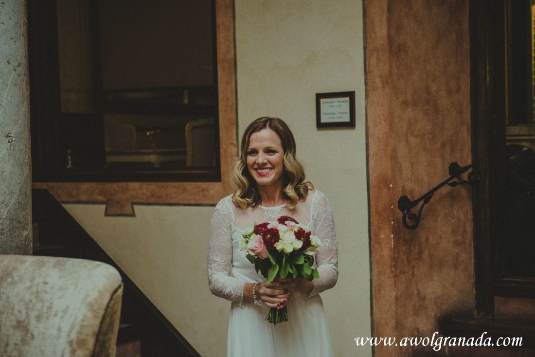 AWOL Granada Wedding Planner Spain Bride's first look