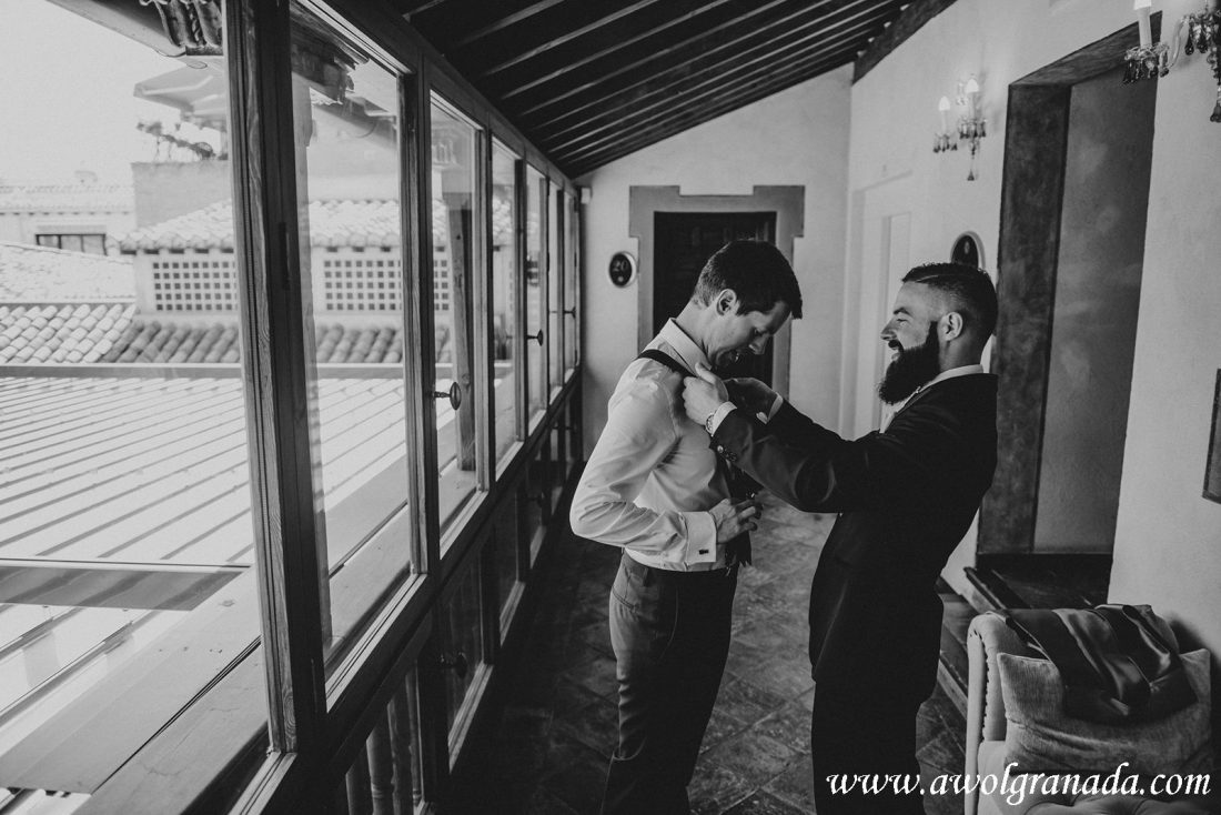 AWOL Granada Wedding Planner Spain Groom Preparations