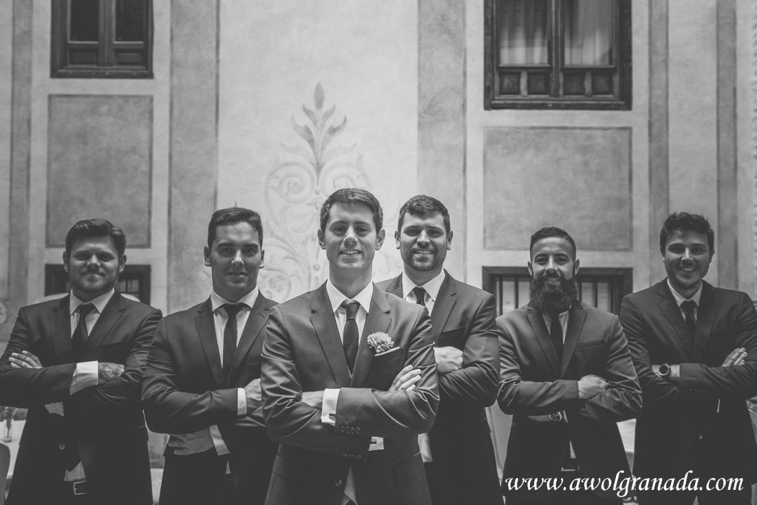 AWOL Granada Wedding Planner Spain Groom and Groomsmen looking cool