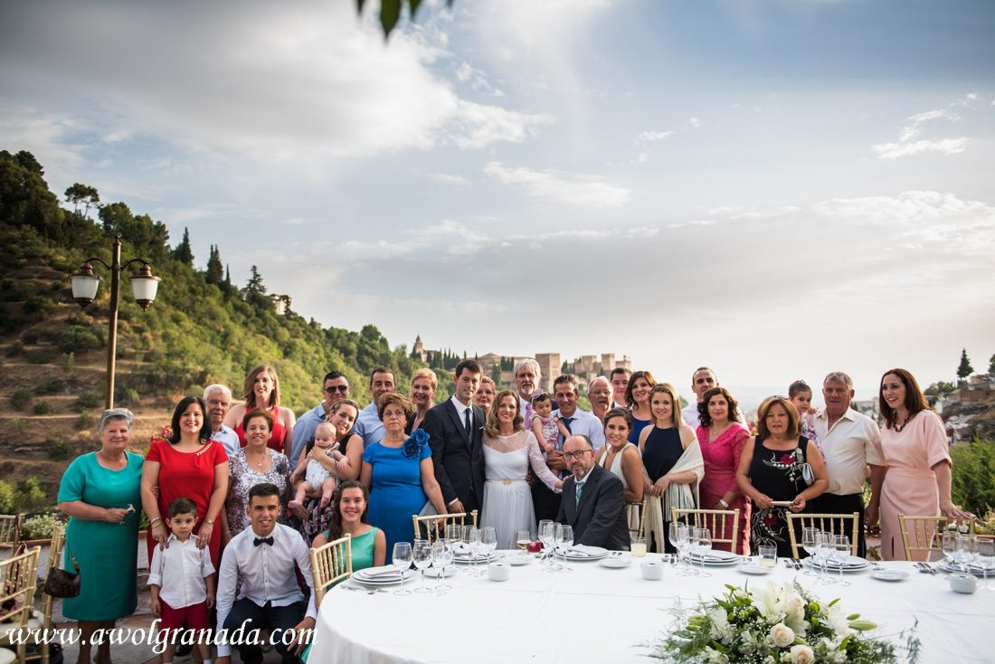 AWOL Granada Wedding Planner Spain Group photos at La Chumbera