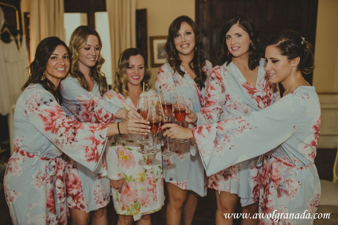 AWOL Granada Wedding Planner Spain Pink Cava Cheers!