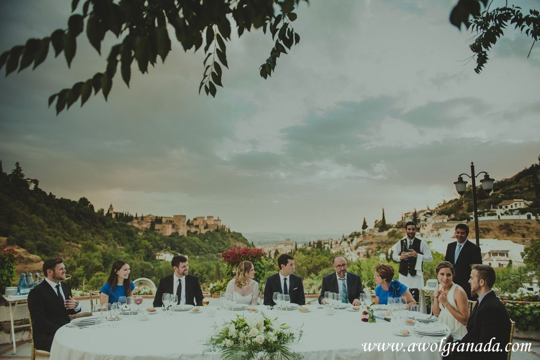 AWOL Granada Wedding Planner Spain Wedding Reception with Alhambra View