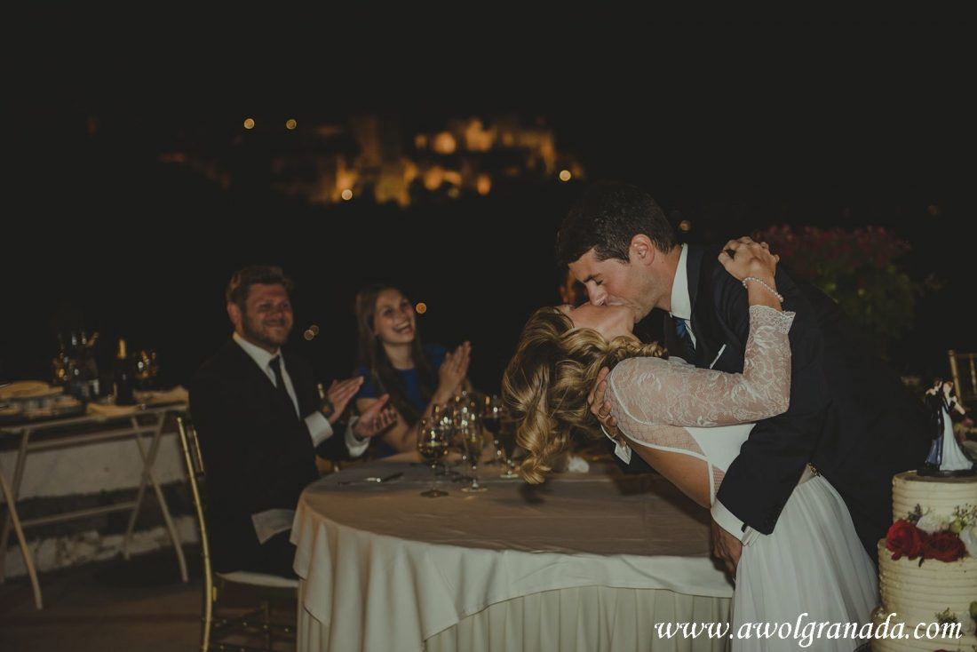 AWOL Granada Wedding Planner Spain - What a kiss!