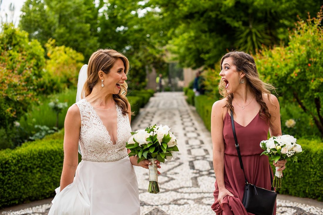 AWOL Granada, Wedding Planners, Spain - An Excited Bride