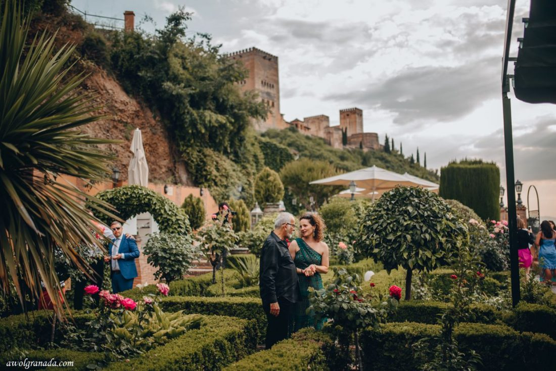 AWOL Granada, Wedding Planners, Spain - Cocktail hour in the gardens