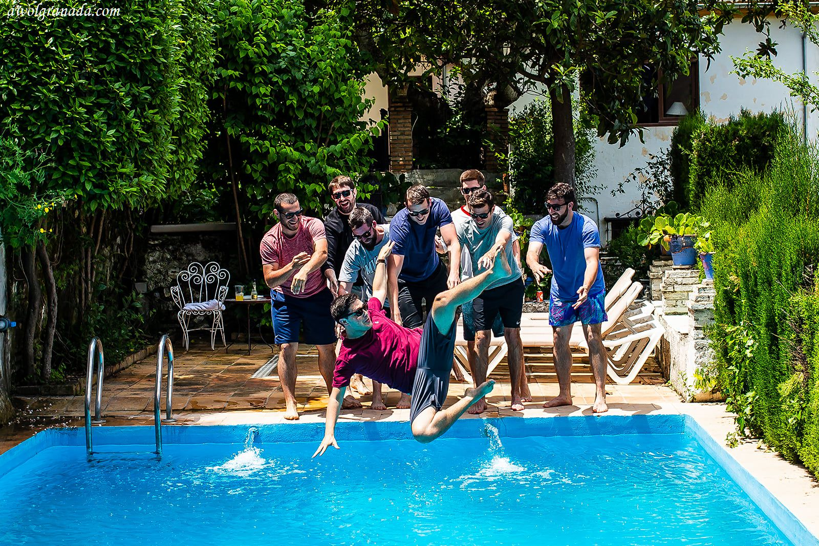 AWOL Granada, Wedding Planner, Spain - Wedding Day Pool Fun
