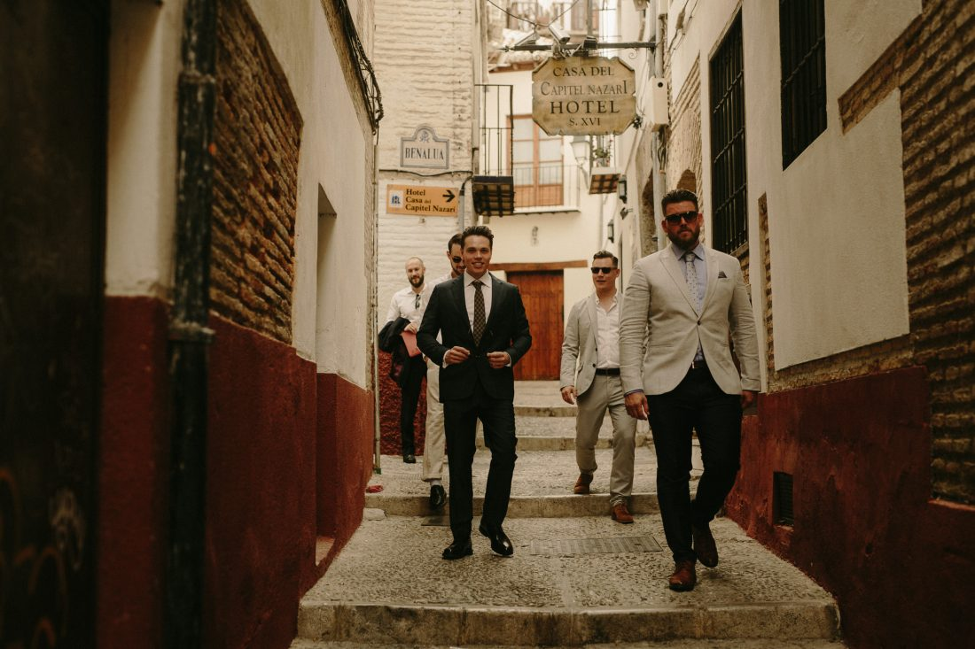 AWOL granada Wedding Planner Spain Groom and Groomsmen