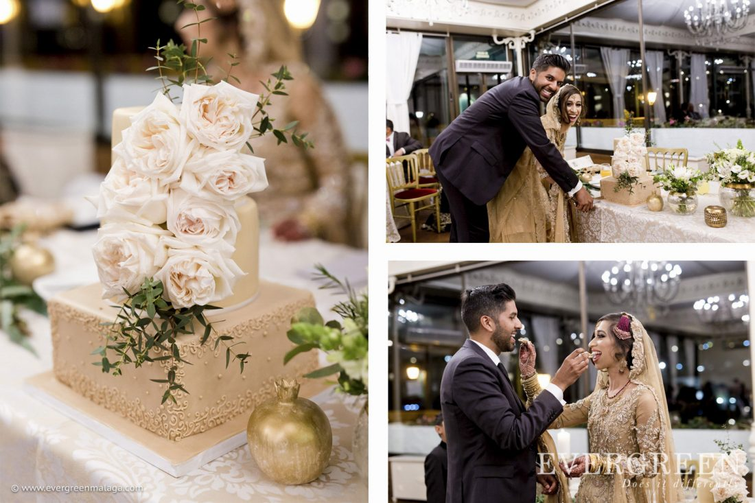 AWOL Granada, Wedding Planner, Spain, Carmen de los Chapiteles, Cutting of the Cake
