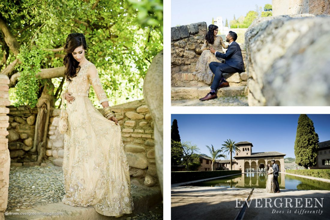 AWOL Granada, Wedding Planner, Spain, Indian Wedding, Alhambra Photoshoot