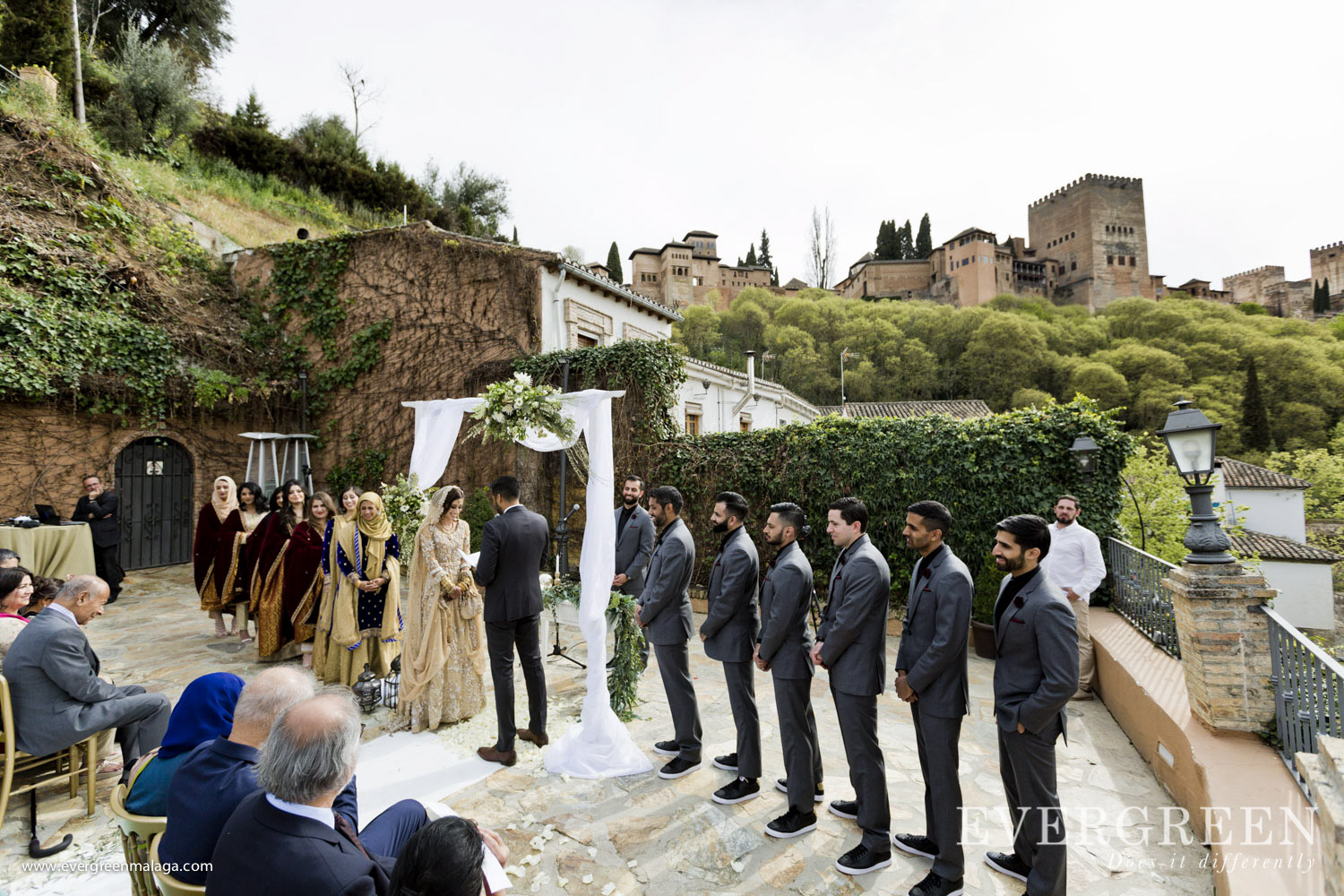 AWOL Granada, Wedding Planner, Spain, Indian Wedding Ceremony, Carmen de los Chapiteles