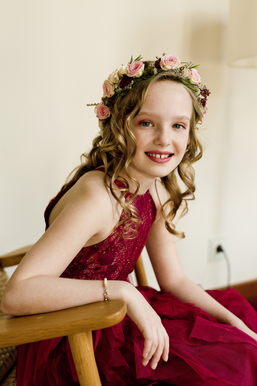 AWOL Granada, Wedding Planners, Spain, Parador de Granada, Flower girl with her flower crown
