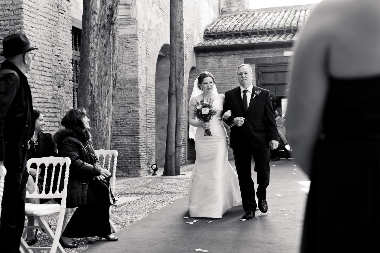 AWOL Granada, Wedding Planners, Spain, Parador de Granada, Here comes the bride
