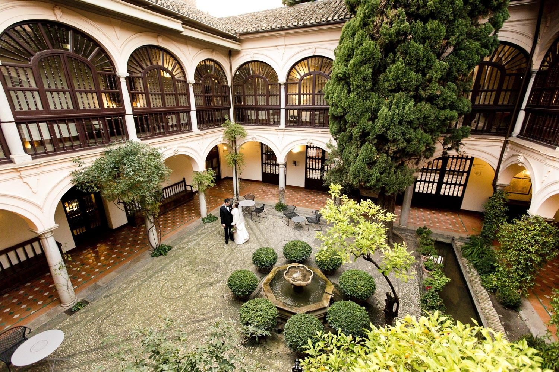 AWOL Granada, Wedding Planners, Spain, Parador de Granada, Patio