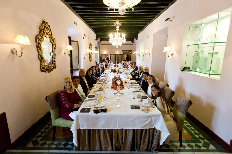 AWOL Granada, Wedding Planners, Spain, Parador de Granada, Romatic Dining Room