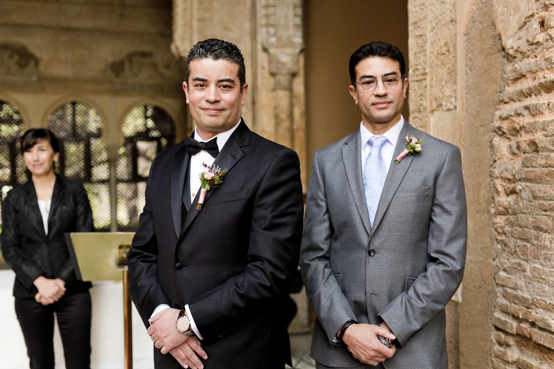 AWOL Granada, Wedding Planners, Spain, Parador de Granada, The Groom waiting Patiently
