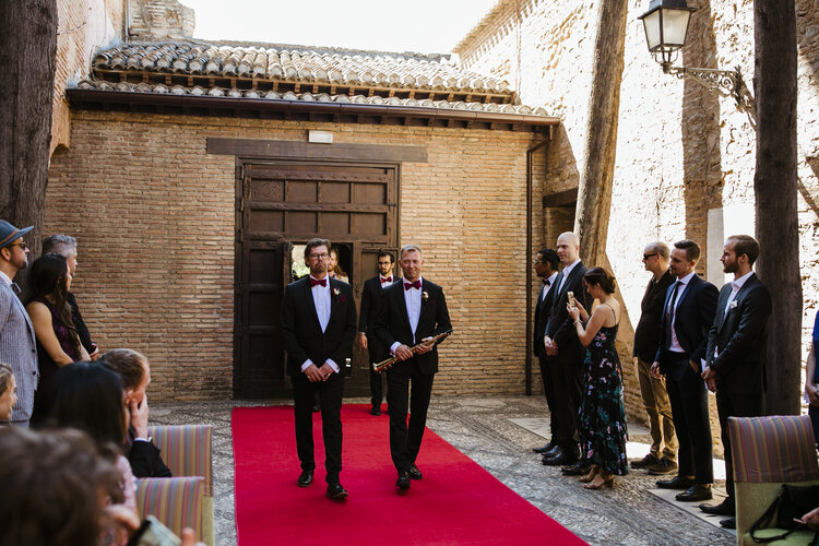 Bridal Party entrance to the ceremony AWOL - Wedding Planner, Granada, Spain
