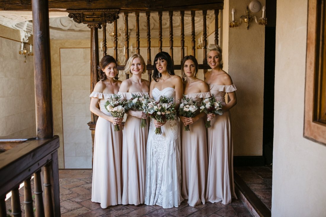 The-bride-and-bridesmaids-with-their-bouquets-AWOL-Wedding-Planner-Granada-Spain-1