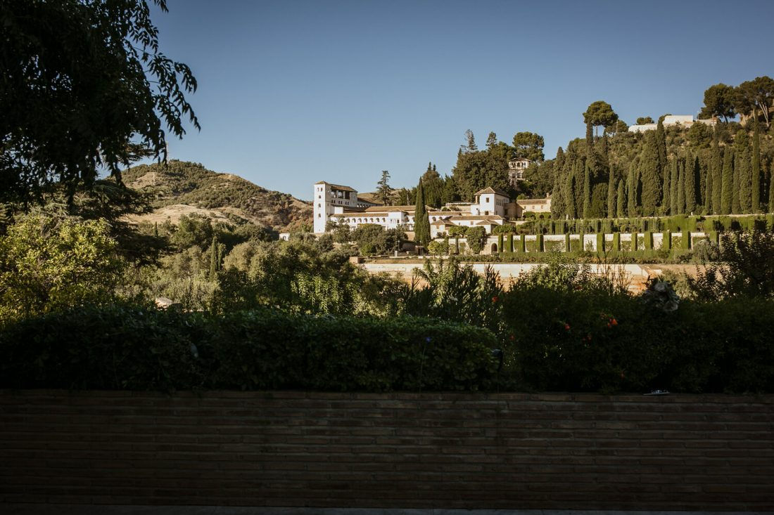 Views of the Alhambra gardens - AWOL Granada Wedding Planner Spain