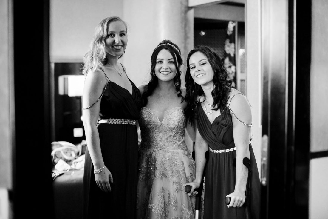 The Bride & her sisters.