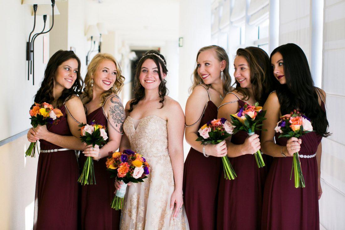 The Beautiful Bride & Bridesmaids.