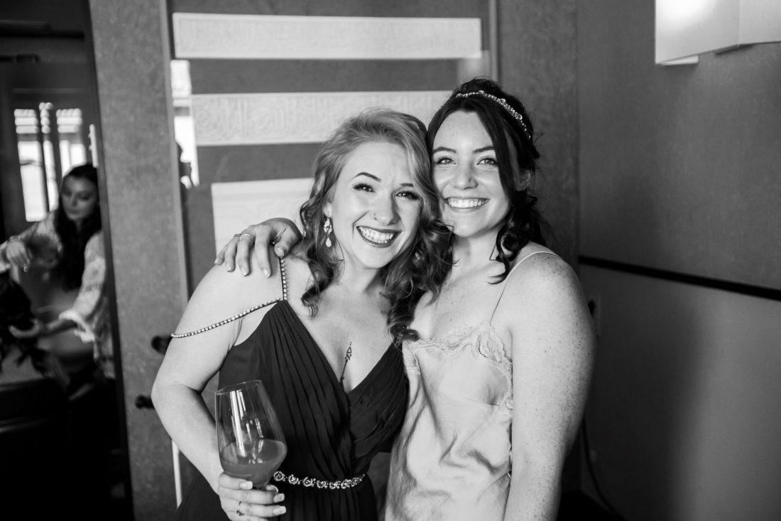 Sandra with a Bridesmaid