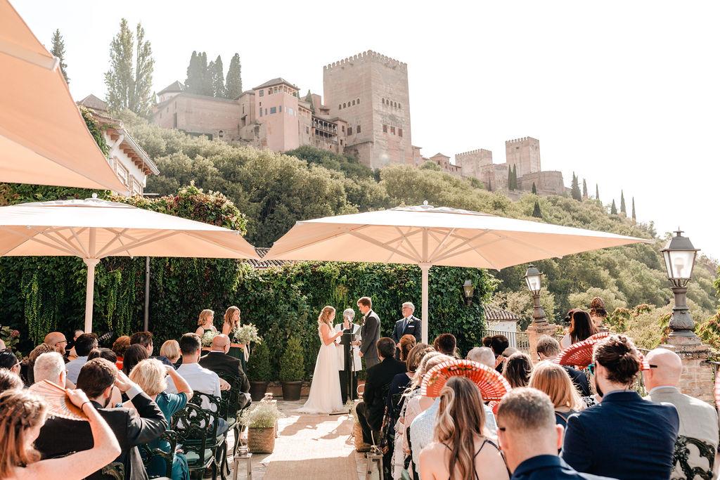 Alhambra Wedding Ceremony - AWOL Granada Wedding Planner Spain