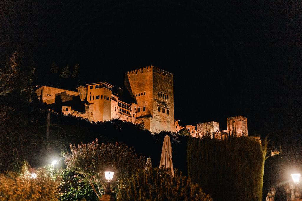 Alhambra at Night - AWOL Granada Wedding Planner Spain