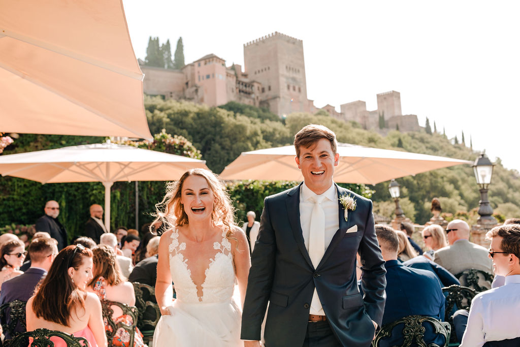 Big smiles for the bride and groom - AWOL Granada Wedding Planner Spain