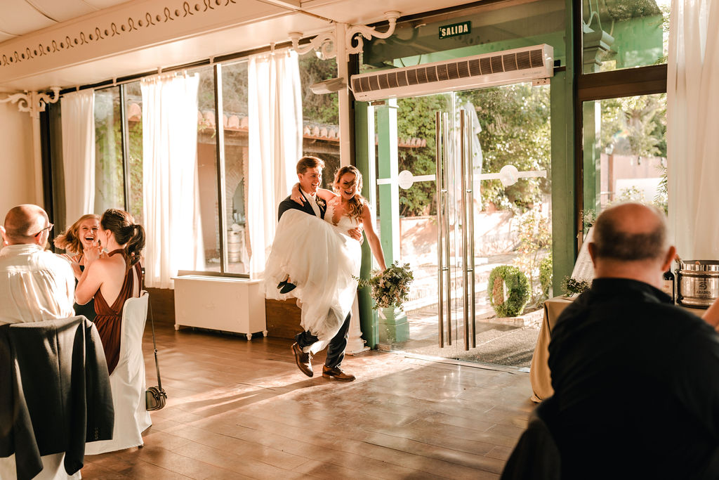Bride and Groom entrance to the Wedding Breakfast - AWOL Granada Wedding Planner Spain