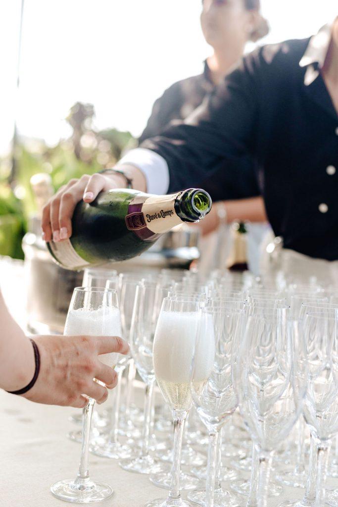 Cava on arrival - AWOL Granada Wedding Planner Spain