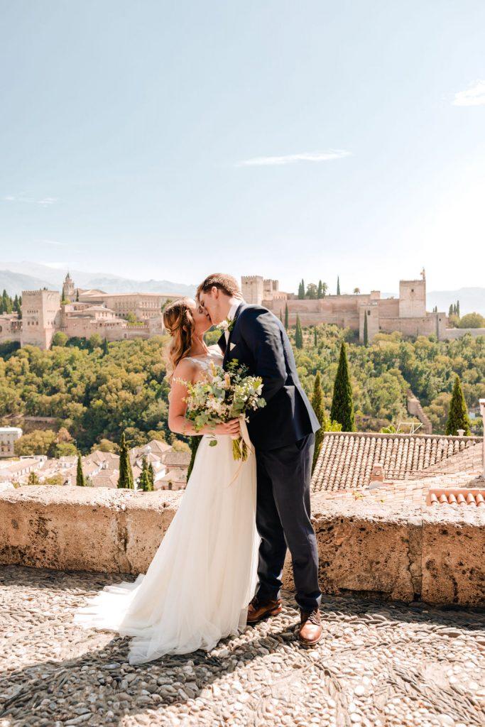 Couple shots at La Alhambra - AWOL Granada Wedding Planner Spain