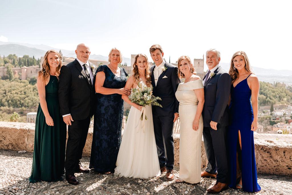 Family photos at the Mirador de San Nicolas - AWOL Granada Wedding Planner Spain