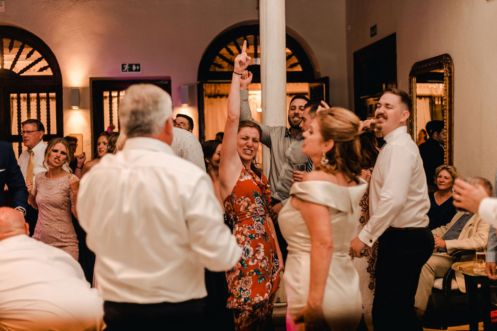 Serious Partying at the Wedding Reception- AWOL Granada Wedding Planner Spain