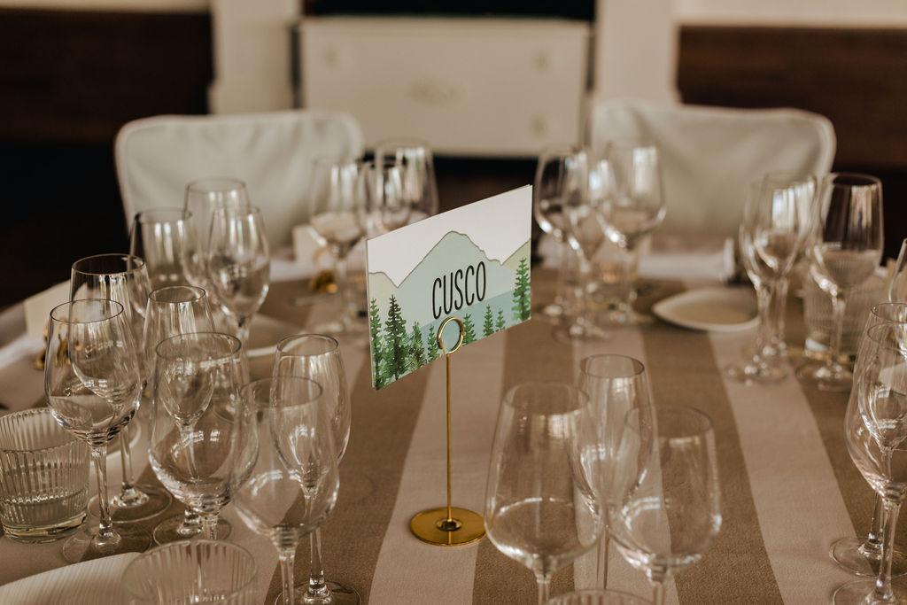 Table settings - AWOL Granada Wedding Planner Spain