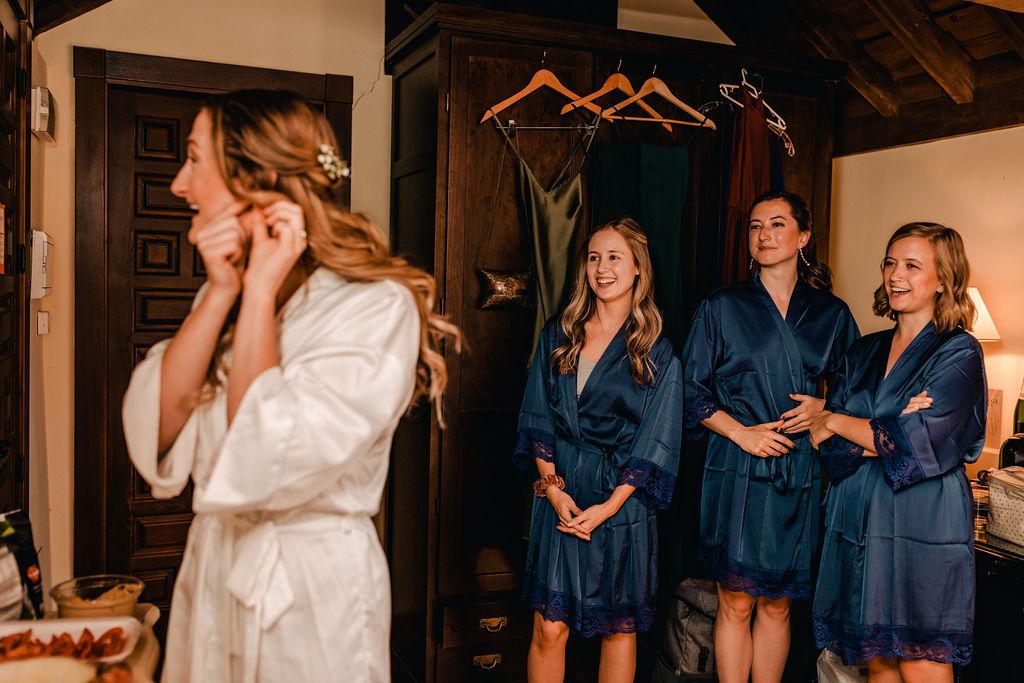 The girls getting ready - AWOL Granada Wedding Planner Spain