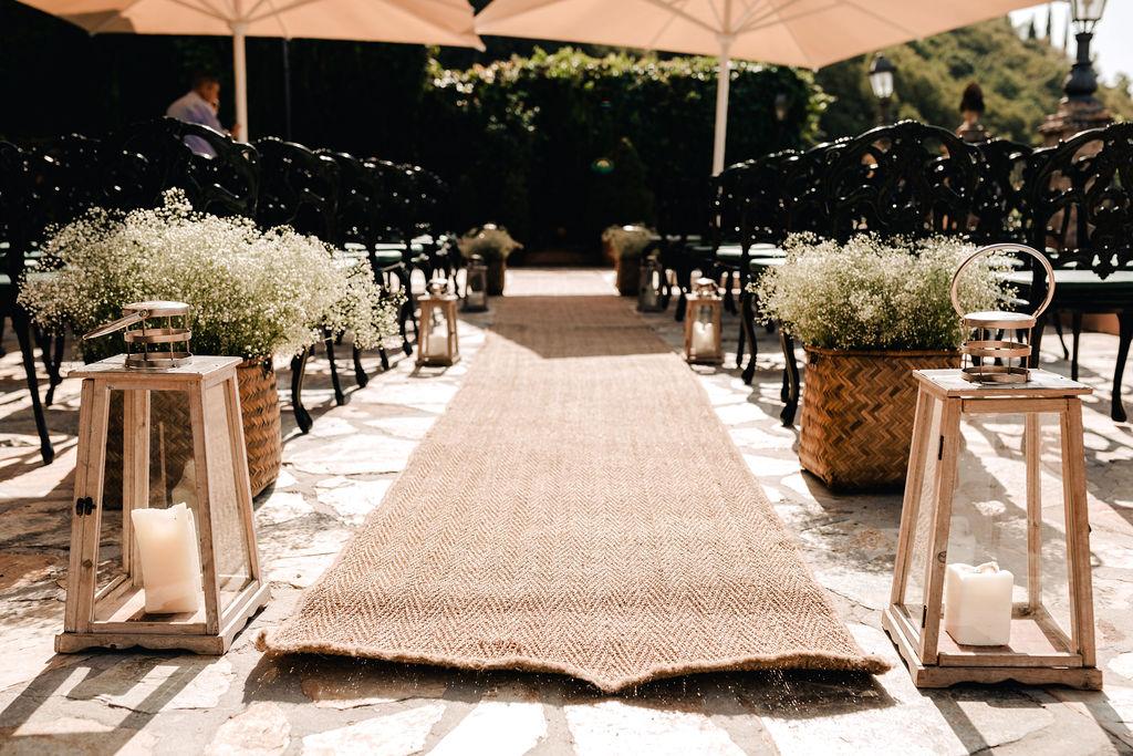 Wedding Ceremony Set up - AWOL Granada Wedding Planner Spain