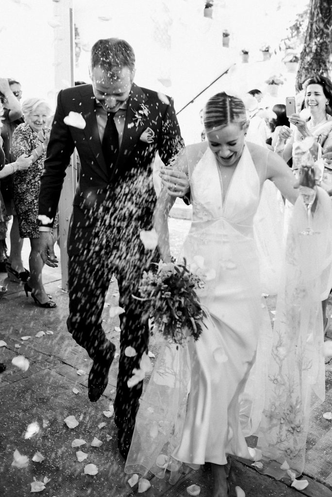 Bombarded with Confetti - AWOL Granada, Wedding Planner, Spain