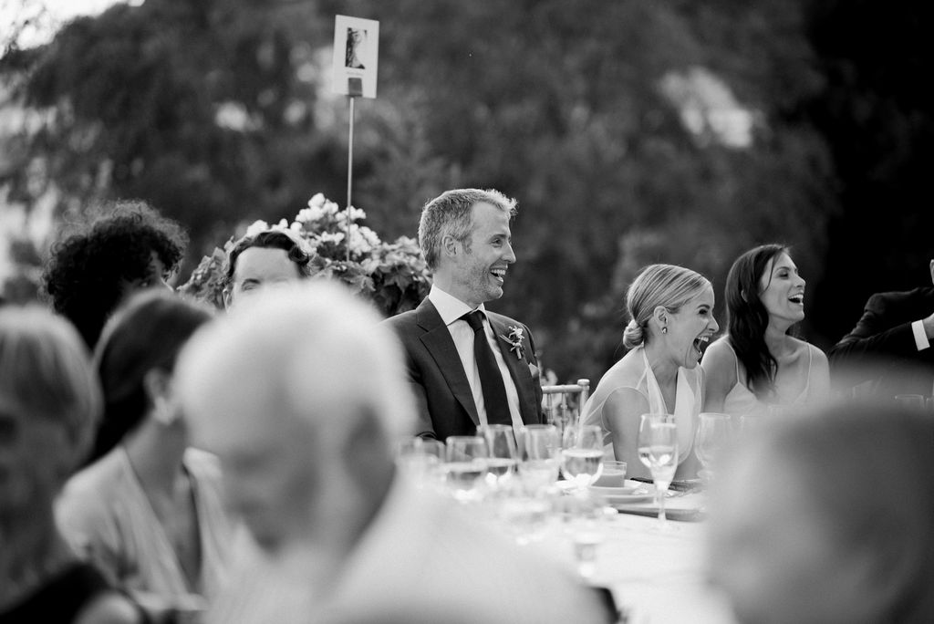 Bride and Groom enjoying the speeches - Wedding Planner, AWOL Granada, Spain