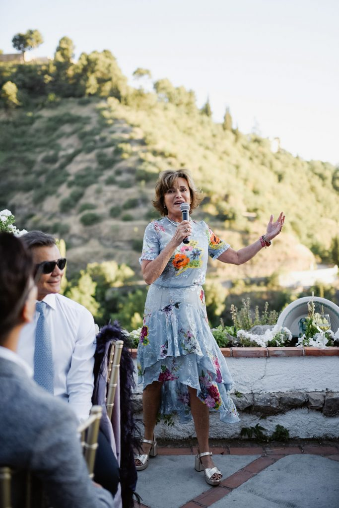 Mother of the bride speech - Wedding Planner, AWOL Granada, Spain