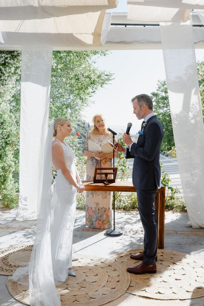 The Bride and Groom Exchanging Vows - Wedding Planner, Granada, Spain