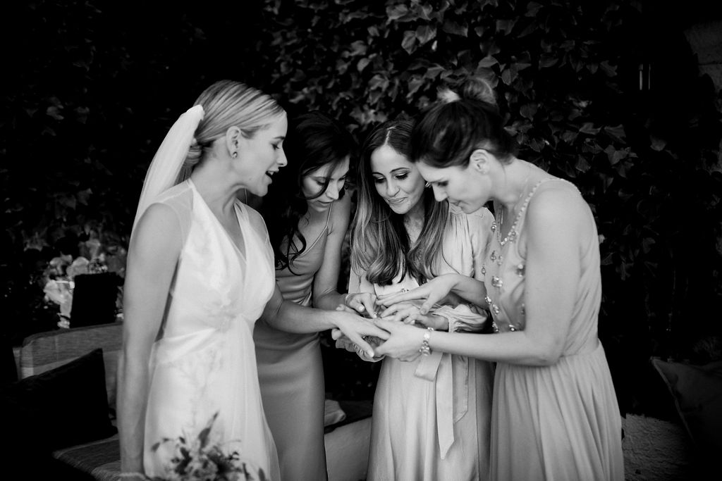The girls admiring the ring - AWOL Granada, Wedding Planner, Spain